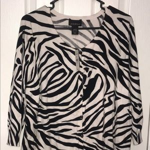 New tags Lane Bryant 22/24 Zebra Cardigan Sweater